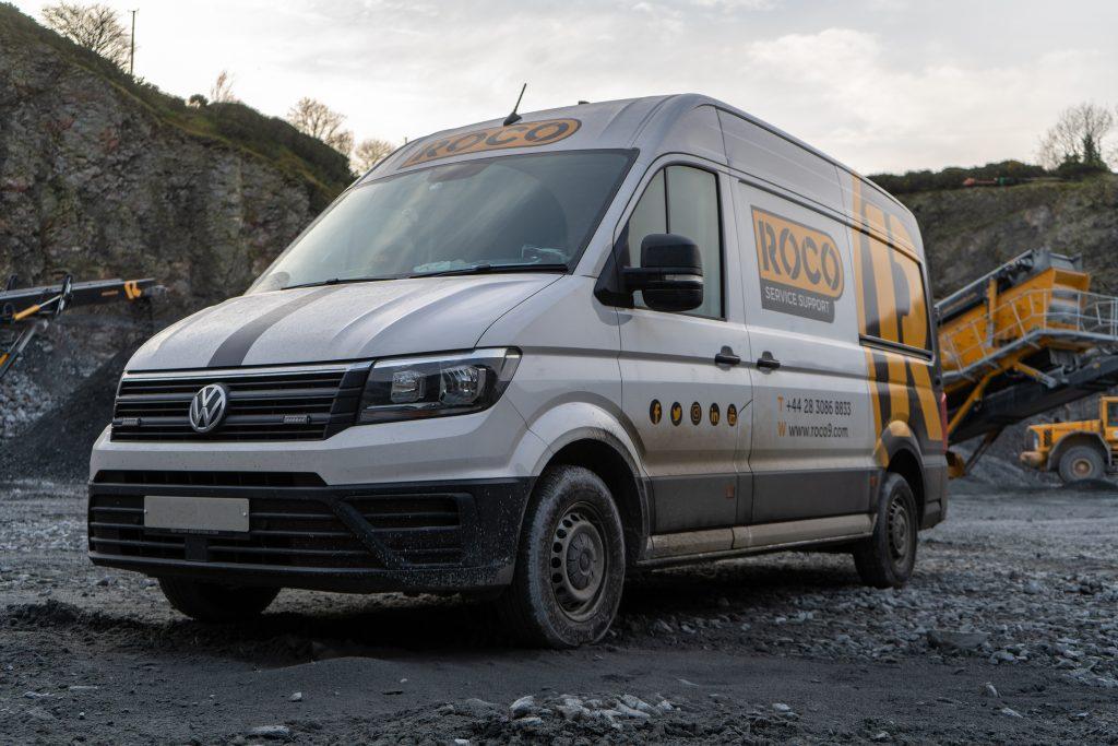 Roco service van in a quarry